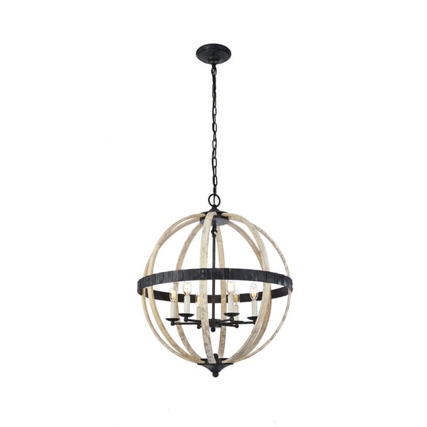 Royce Edge Metal Sphere-shaped 6-light Pendant