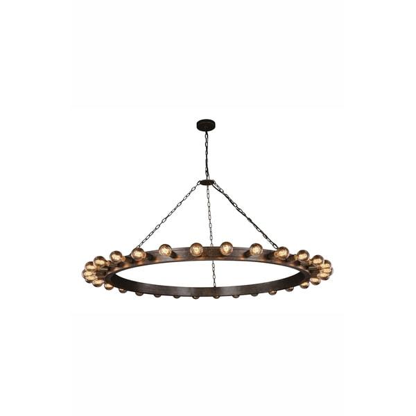 Royce Edge 30-Light Pendant (Aged Iron, Golden Iron&Vintage Bronze, Silver Leaf&Vintage Bronze)
