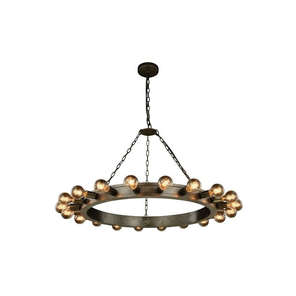 Royce Edge 20-Light Pendant (Aged Iron, Golden Iron&Vintage Bronze, Silver Leaf&Vintage Bronze)
