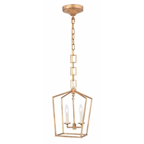 Royce Edge 2-Light Pendant (Golden Iron, Ivory Wash, Polished Nickel, Vintage Bronze)