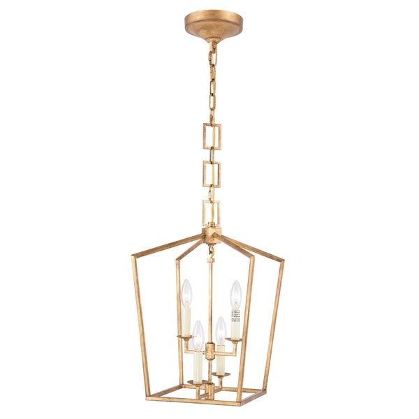 Royce Edge 4-Light Pendant (Golden Iron, Ivory Wash, Polished Nickel, Vintage Bronze)