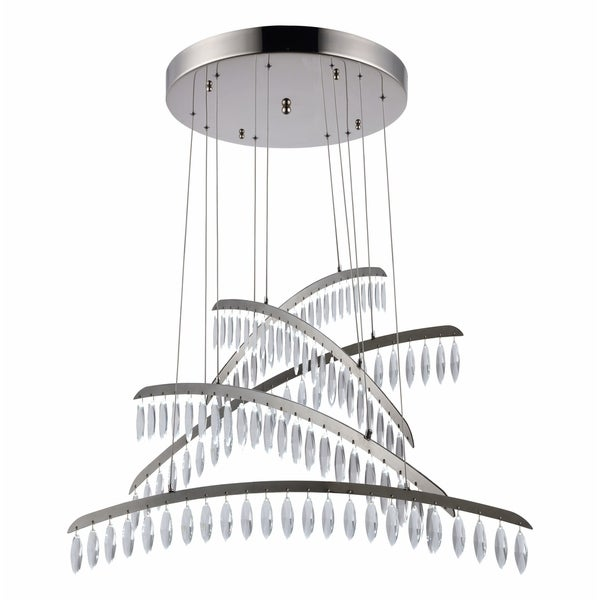 Fleur Illumination 115-Light Polished Nickel Chandelier - polished nickel-swarovski® elements clear crystal