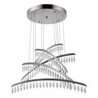 Fleur Illumination Polished Nickel Swarovski Elements Crystal 115-light Chandelier