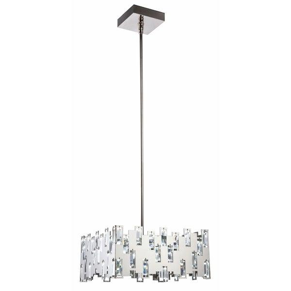 Fleur Illumination 68-Light Polished Nickel Chandelier - polished nickel-swarovski® elements clear crystal