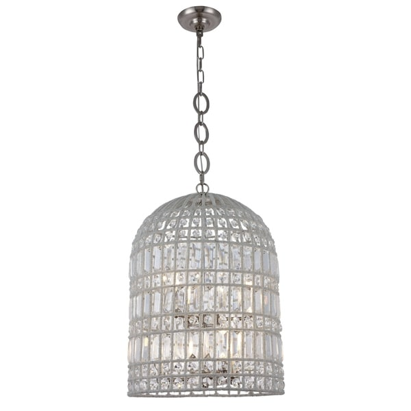 Royce Edge Steel Crystal 6-light Pendant