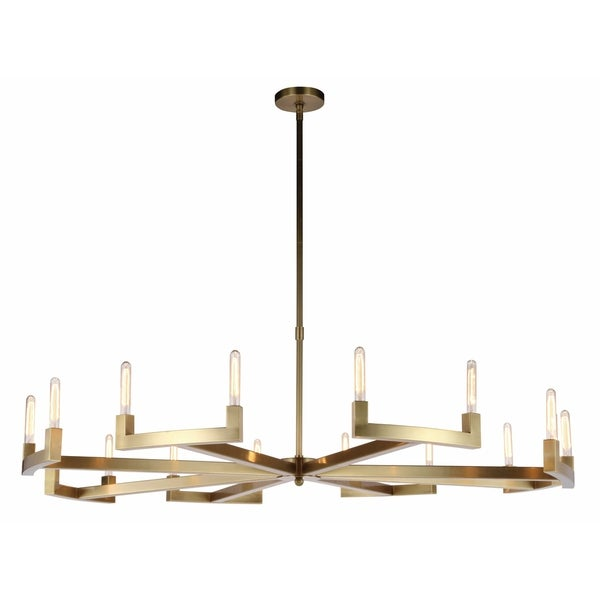 Royce Edge 16-Light Chandelier (Burnished Brass, Bronze, Polished Nickel). Opens flyout.