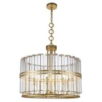 Royce Edge 6-Light Chandelier (Antique Gold Leaf, Antique Silver Leaf)