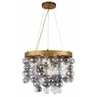 Royce Edge 4-Light Chandelier (Antique Gold Leaf, Antique Silver Leaf)