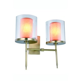 Royce Edge 2-Light Wall Sconce (Burnished Brass, Bronze, Vintage Nickel)
