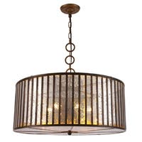 Royce Edge Dark Antique Brass Metal/Glass 6-light Chandelier