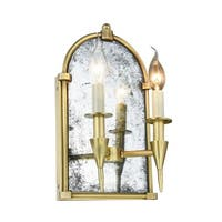 Royce Edge 2-Light Wall Sconce (Burnished Brass, Bronze, Polished Nickel)