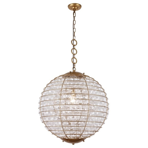 Royce Edge Steel/Glass 1-light Chandelier