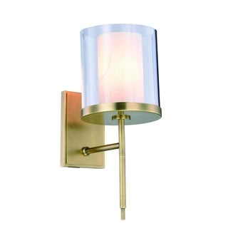 Royce Edge 1-Light Wall Sconce (Burnished Brass, Bronze, Vintage Nickel)