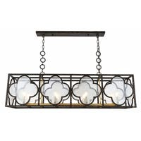 Royce Edge 8-Light Aged Copper&Golden Iron Chandelier