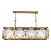 Royce Edge 8-Light Golden Iron Chandelier