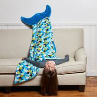Berkshire Blanket Cuddly Buddies Mermaid Footie Throw