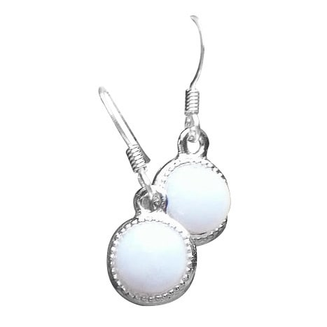 78af3a8312a8 Handmade Recycled Vintage White Milk Glass Pond's Cold Cream Jar Color Dot  Earrings (United States)