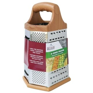 Wee's Beyond 5915 Stainless Steel 6-Sided Grater