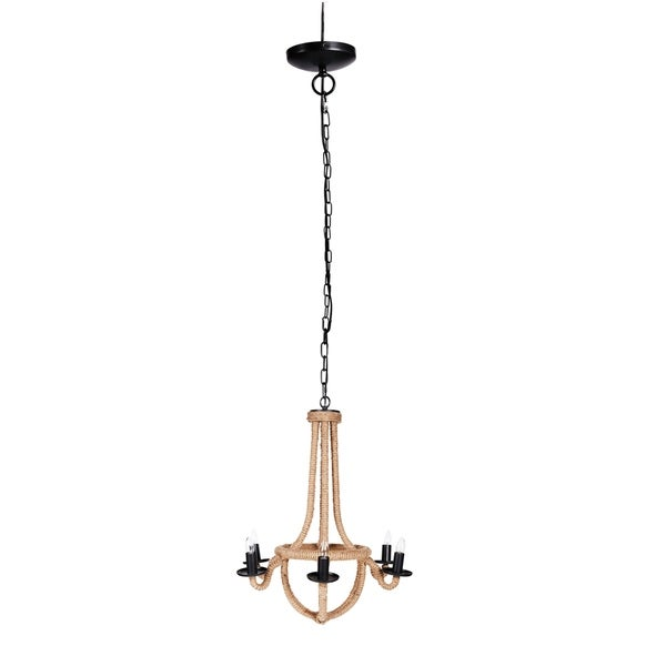 "Ordway 25x27"" Iron Spray 6-Light Chandelier"