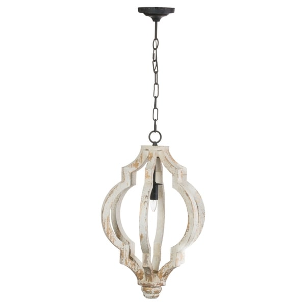 Bellamy Medium 1-light Distressed Wood Chandelier (16 inches x 24.5 inches)