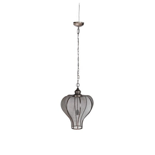Nicollet Crown Iron 16.5-inch x 24-inch Pendant Light