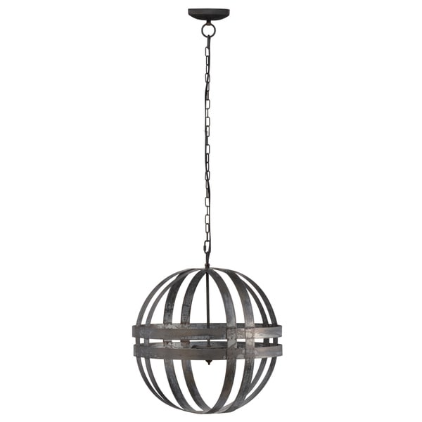 Kenzo Coastal Silver Finish Iron 20-inch Chandelier