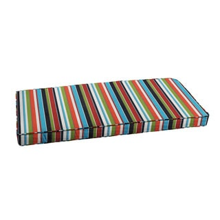 """Sunbrella Colorful Stripe Indoor/ Outdoor Bench Cushion 37"""" to 48"""" by Humble + Haute"""