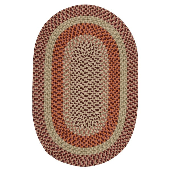 New Age Farmhouse Rusted Tone Area Rug - 9' x 12'