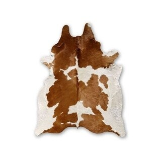 Hand Selected Authentic Cowhide Light Brown - 6' x 8'