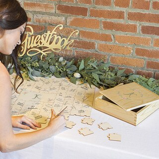 Personalized Wedding Guestbook Puzzle (More options available)