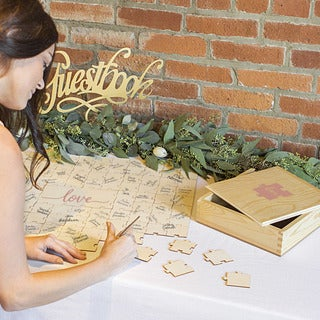 Love Wedding Guestbook Puzzle