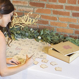 Love Wedding Guestbook Puzzle