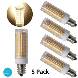 Goodlite E12 7.5W LED Candelabrle Base 750 Lumens (60W Equvilent) Warm White 3000k Dimmeble 120V (5 Pack)