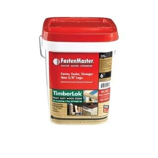 FastenMaster TimberLOK Hex Wood Screw 6 in. L Epoxy Steel 250 pk