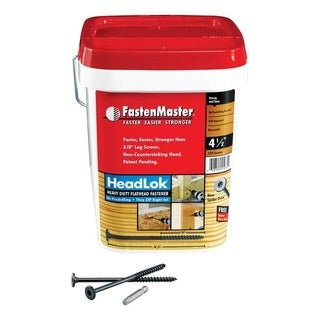 FastenMaster HeadLok Wood Screws Spider Coarse No. 10 4-1/2 in. L Epoxy Black