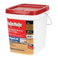 FastenMaster LedgerLOK Hex Washer Coarse Deck Ledger Screws 3-5/8 in. L Grey Hex 250 per box Bucket