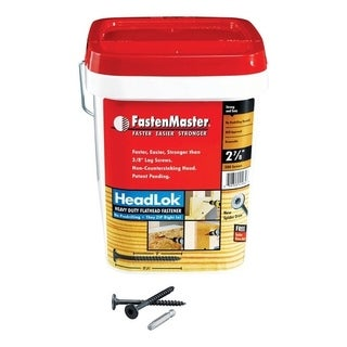FastenMaster HeadLok Wood Screws Spider Coarse No. 10 2-7/8 in. L Epoxy Black