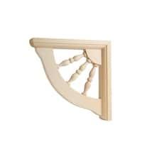 Waddell  Hardwood  Wood  Decorative  Shelf Bracket  7 in. L x 1-1/2 in. W x 7 in. H