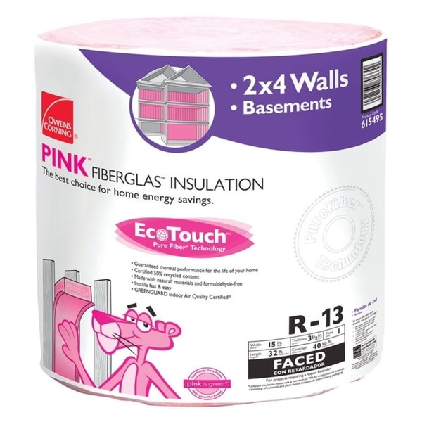 Owens Corning Insulation R-13 15 in  W Roll 40 04 sq  ft  Energy Star  Compliant