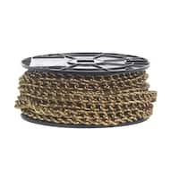 Campbell Chain  Twist link  Machine Chain  70 ft. L x 5/32 in. Dia. No. 2  Gold  Carbon Steel