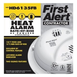 First Alert Hard-Wired with Battery Back-up Thermistor Heat Alarm