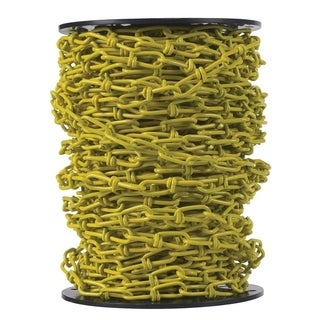 Campbell Chain Double Loop Chain 125 ft. L x 9/64 in. Dia. No. 2/0 Yellow Carbon Steel