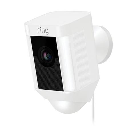 Ring White Wi-Fi Security Camera 5 in. H x 2.75 in. W x 2.7 in. L