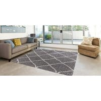 "Concord Global Classic Lattice Shag Rug - 6'7""X9'3"""