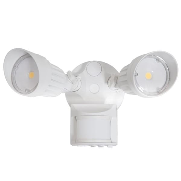 maxxima 2 head outdoor led security light 1800 lumens motion