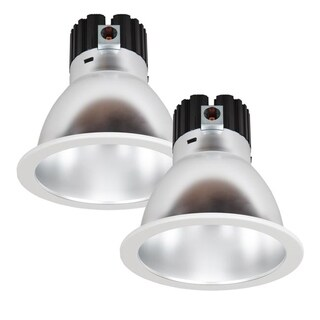 Maxxima 8 in. Commercial Recessed LED Downlight, Dimmable, 27 Watts, 2400 Lumens, 4000K (2 Pack)