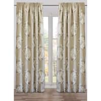 Drape Flowers Taupe, Lined, , French Linen (48 x 118 In)