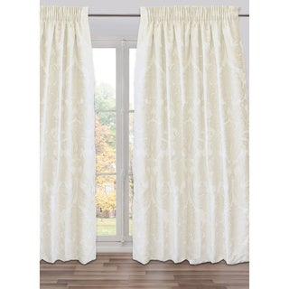 Godiva Ivory Cotton-blend Fully Adjustable Large Drape Panel