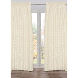 Ready-Made, Fully Adjustable Drape Panel Fret Work Beige - 48 X 118 Inches - N/A