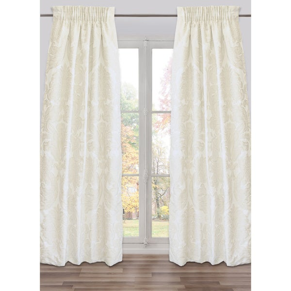 Ready-Made, Fully Adjustable Drape Panel Godiva Ivory Small - 48 X 118 Inches - N/A